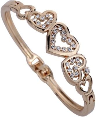Amour Alloy Crystal Rose Gold Bracelet