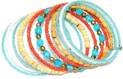 Laron Handicrafts Glass, Metal Bracelet