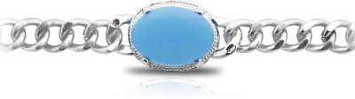 Shining Jewel Alloy Turquoise, Amber Rhodium Bracelet