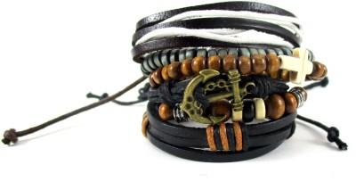Streetsoul Leather, Wood Charm Bracelet