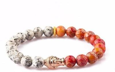 Nezaro Stone Beads Rose Gold Bracelet