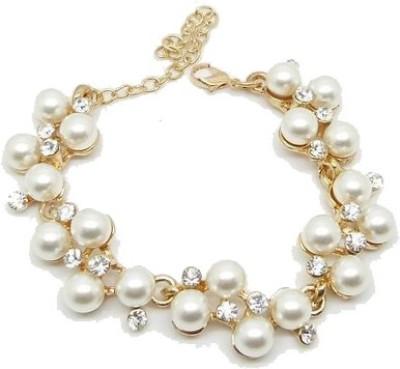 Amour Alloy Zircon, Pearl Yellow Gold Bracelet