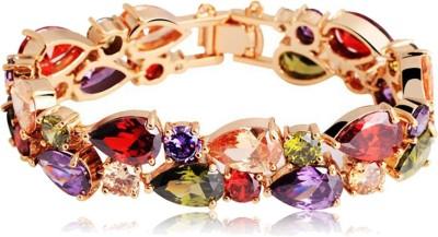 Karatcart Zinc Zircon 18K Rose Gold Charm Bracelet