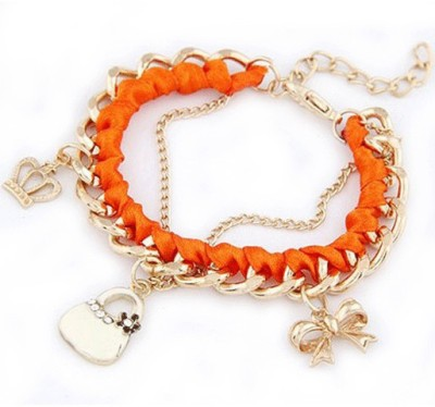 Aaishwarya Alloy, Fabric Crystal Bracelet