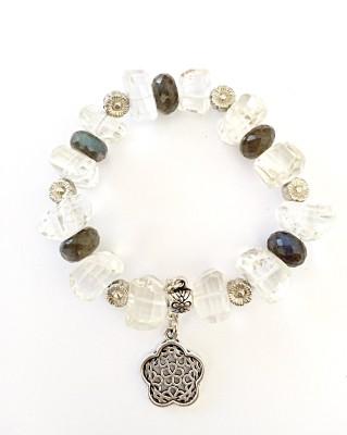 DG Metal Crystal, Spinel Charm Bracelet