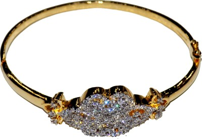 Jewels Kafe Alloy Cubic Zirconia Yellow Gold Bracelet