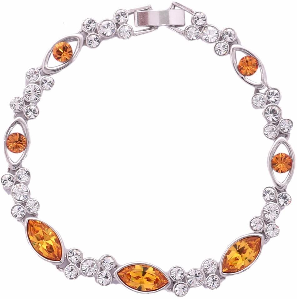 3e892780e Nevi Metal, Crystal, Brass Crystal Brass, White Gold Bracelet was ₹1499 now