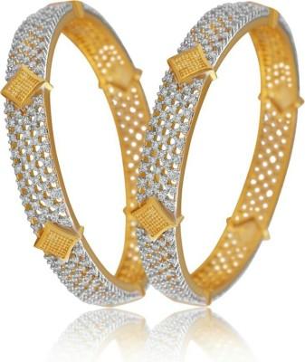 shreejicreations Alloy Cubic Zirconia 8K Yellow Gold Bangle