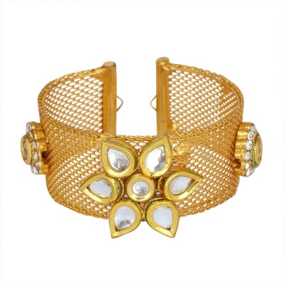 Ethnic Jewels Alloy Yellow Gold Cuff