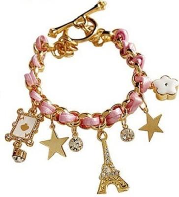 Amour Alloy Crystal Charm Bracelet