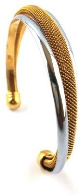 Italian Jewellery Brass 22K Yellow Gold Cuff