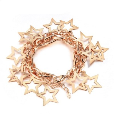 Wearyourfashion Alloy 14K Yellow Gold Bracelet