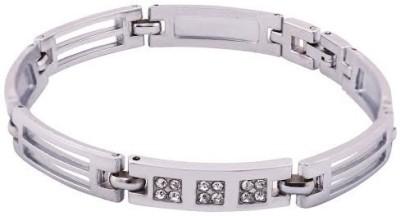 Rich Club Silver Diamond Silver Bracelet