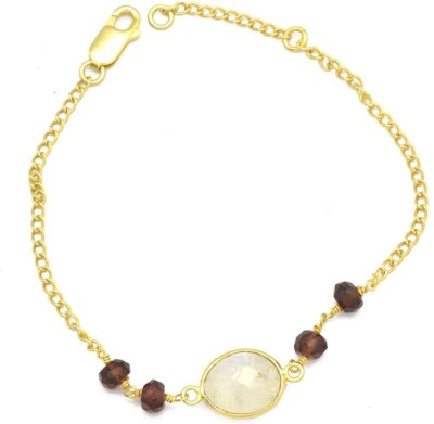YugshaJewels Silver Moonstone Bracelet