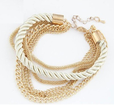 Wearyourfashion Alloy Yellow Gold Charm Bracelet