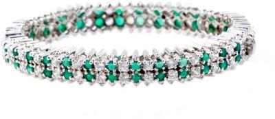 Shrungar Sterling Silver Emerald Sterling Silver Bangle