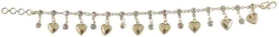 Rejewel Alloy 22K Yellow Gold Charm Bracelet