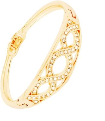 Bling N Beads Metal, Silver Zircon 18K Yellow Gold Bracelet