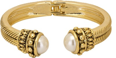 Adwitiya Collection Copper Pearl 24K Yellow Gold Bracelet