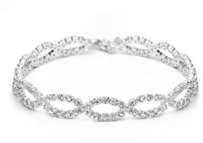 Prishi Impex Zinc Cubic Zirconia Platinum Bracelet