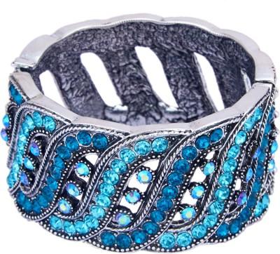 TVESHA Alloy Cubic Zirconia Silver Bracelet