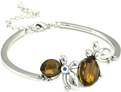Favola Alloy Swarovski Crystal Rhodium Bracelet