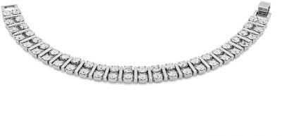 Voylla Alloy Cubic Zirconia Silver Bracelet
