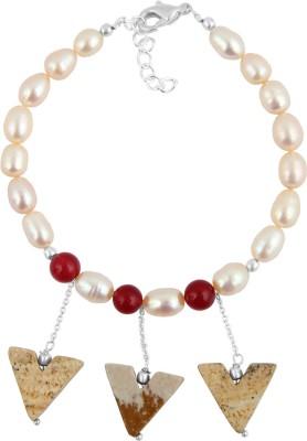 Pearlz Ocean Alloy Pearl, Jade Bracelet
