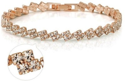 Roma Brothers Alloy Cubic Zirconia 18K Yellow Gold Bracelet