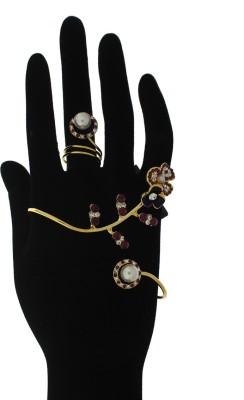 Anuradha Art Metal 18K Yellow Gold Ring Bracelet