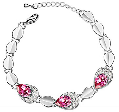 Womanwa Alloy Crystal White Gold Bracelet