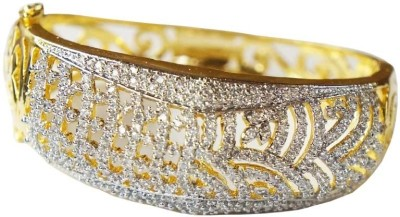 Sheetal Jewellery Brass Cubic Zirconia Yellow Gold Bracelet