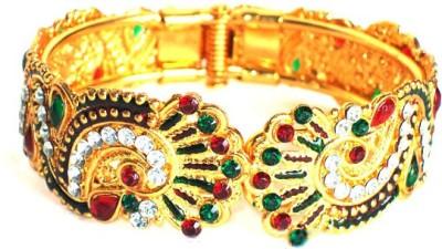 Achal Alloy Crystal Yellow Gold Bracelet
