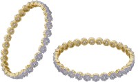 Prisha Collections Alloy Yellow Gold Bangle Set(Pack of 2) best price on Flipkart @ Rs. 1827