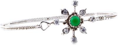 Shrungar Sterling Silver Emerald Sterling Silver Bracelet