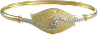 Zaveri Pearls Brass Cubic Zirconia 22K Yellow Gold Bracelet at flipkart