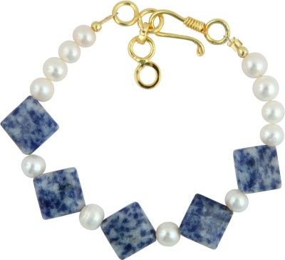 Pearlz Ocean Alloy Pearl, Crystal Yellow Gold Bracelet