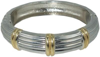 Anjan Brass Cubic Zirconia Silver Bracelet