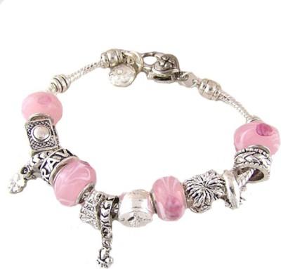 Amour Alloy Silver Charm Bracelet
