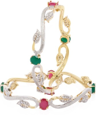 Jewels Galaxy Alloy Bangle Set(Pack of 2) at flipkart