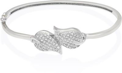Mahi Brass, Alloy Cubic Zirconia Rhodium Bracelet