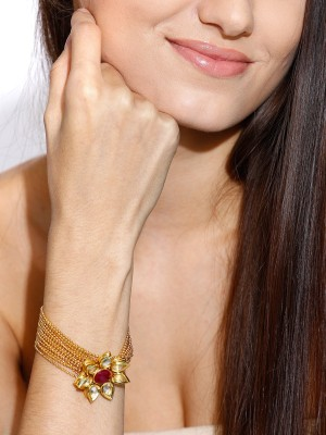 Zaveri Pearls Zinc 18K Yellow Gold Bracelet
