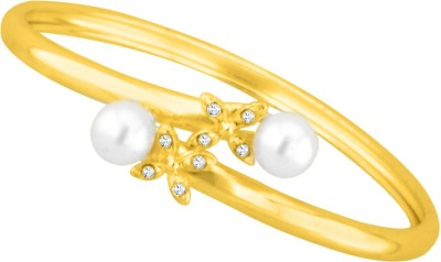 JPearls Alloy Pearl Yellow Gold Bracelet