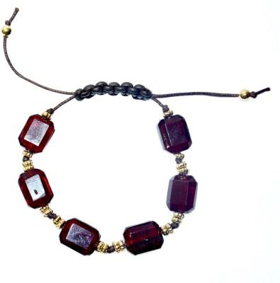 TashCreations Glass, Leather Bracelet