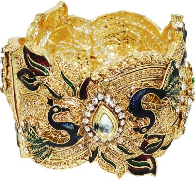 Anjan Brass Cubic Zirconia 18K White Gold Bracelet