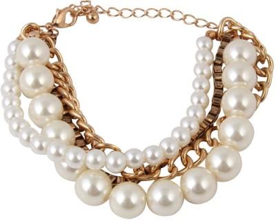 Jewelizer Alloy Opal Rose Gold Bracelet