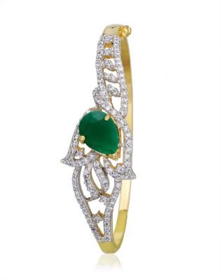 Alysa Alloy Emerald Yellow Gold, Rhodium Bracelet