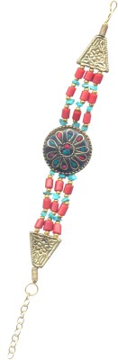 Pearls India Metal, Glass, Lac Bracelet