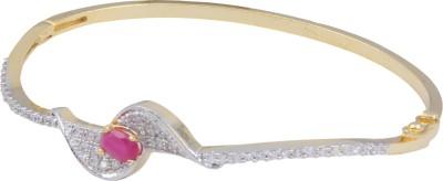 Pink Rose Alloy Rhodium Bracelet