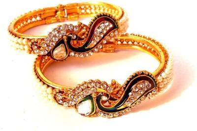 Achal Metal Beads, Crystal Yellow Gold Bracelet Set